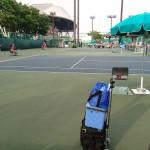 車いすテニス大会観戦